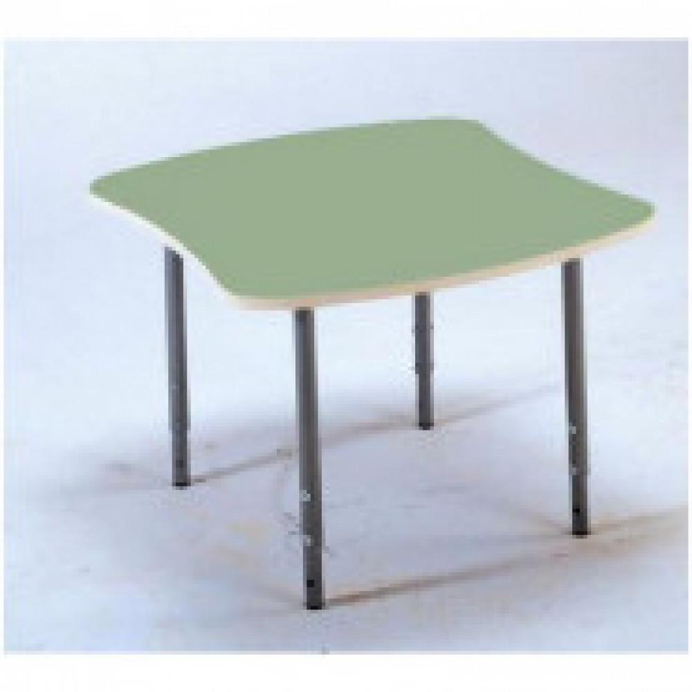 Детская мебель Д_Стол эргоном. 005.329 Рост 0-3 столешн.зеленая