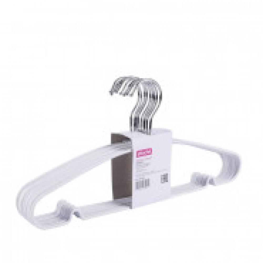Вешалка-плечики металлическая Attache с перекладиной белая (размер 48- 50, 10 штук в упаковке)