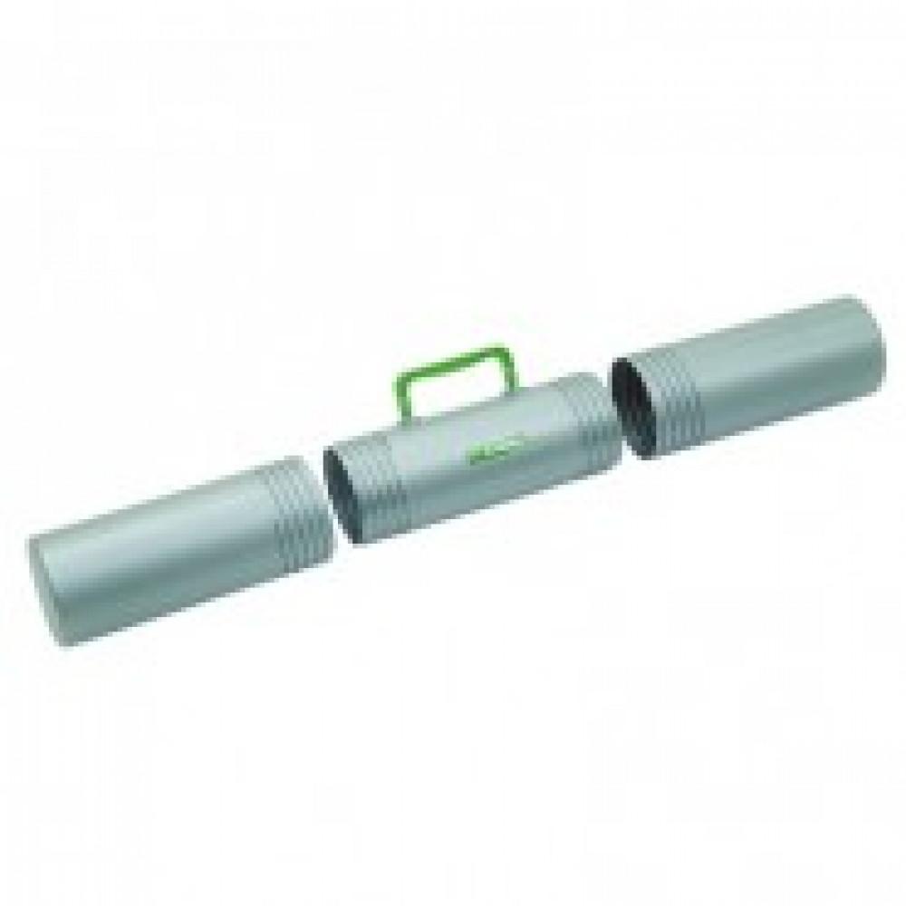 Тубус D100 мм,L650 мм,3секц,с ручкой,серый ПТ-42