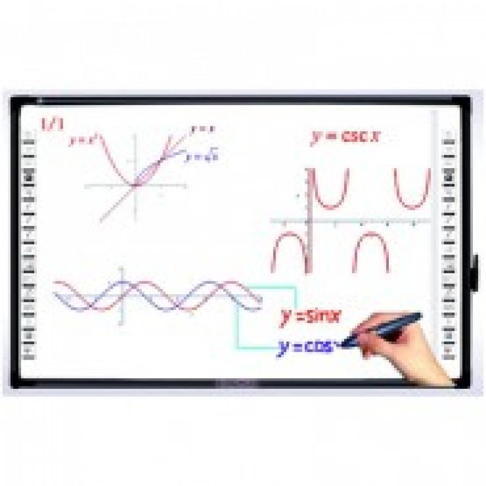Доска интерактивная ScreenMedia М-80, диаг.80, эл-магнитная, 4:3