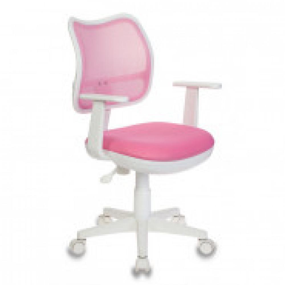Кресло детское Бюрократ CH-W797 розовое (сетка/ткань, пластик)