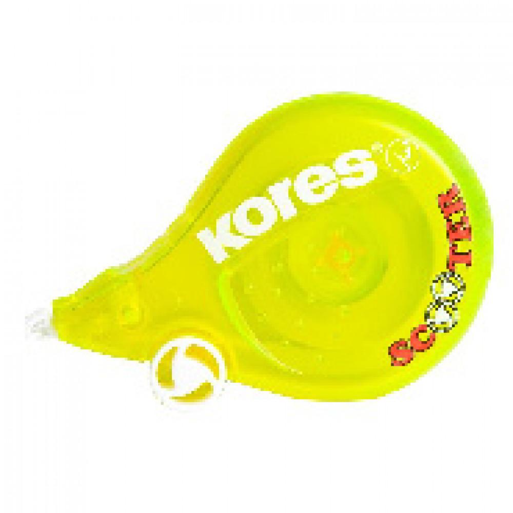 Корректирующая лента 4,2мм KORES  Скутер  цвета в ассорт. 84878/84873