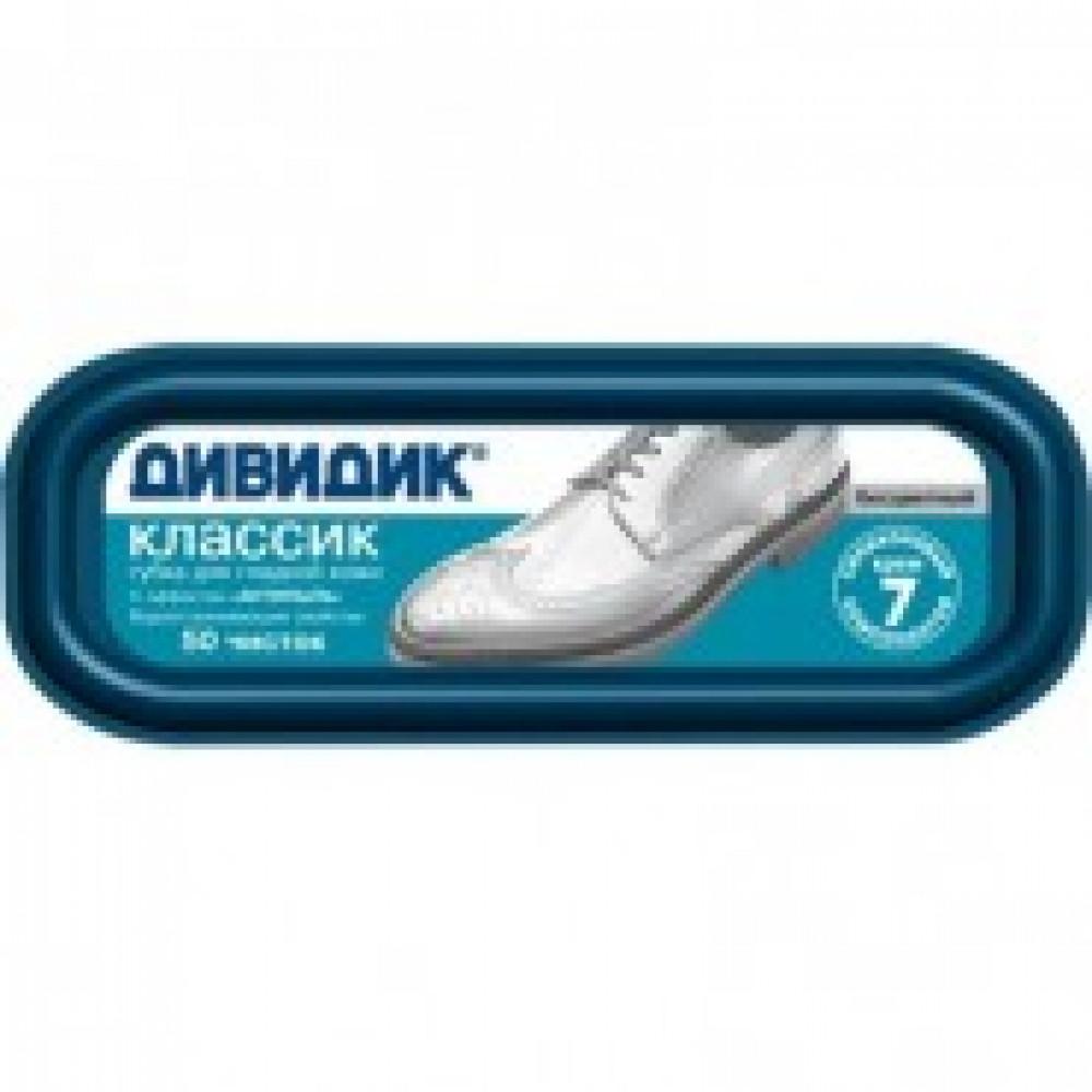 Губка для обуви ДИВИДИК Классик, бесцветный