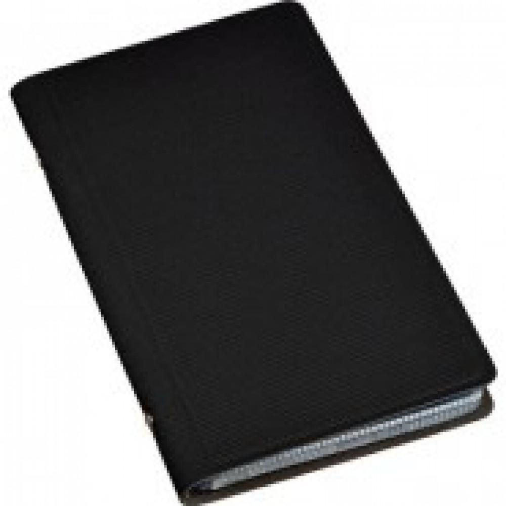 Визитница настольная , 3 кармана, на 96 визиток, PU, черный