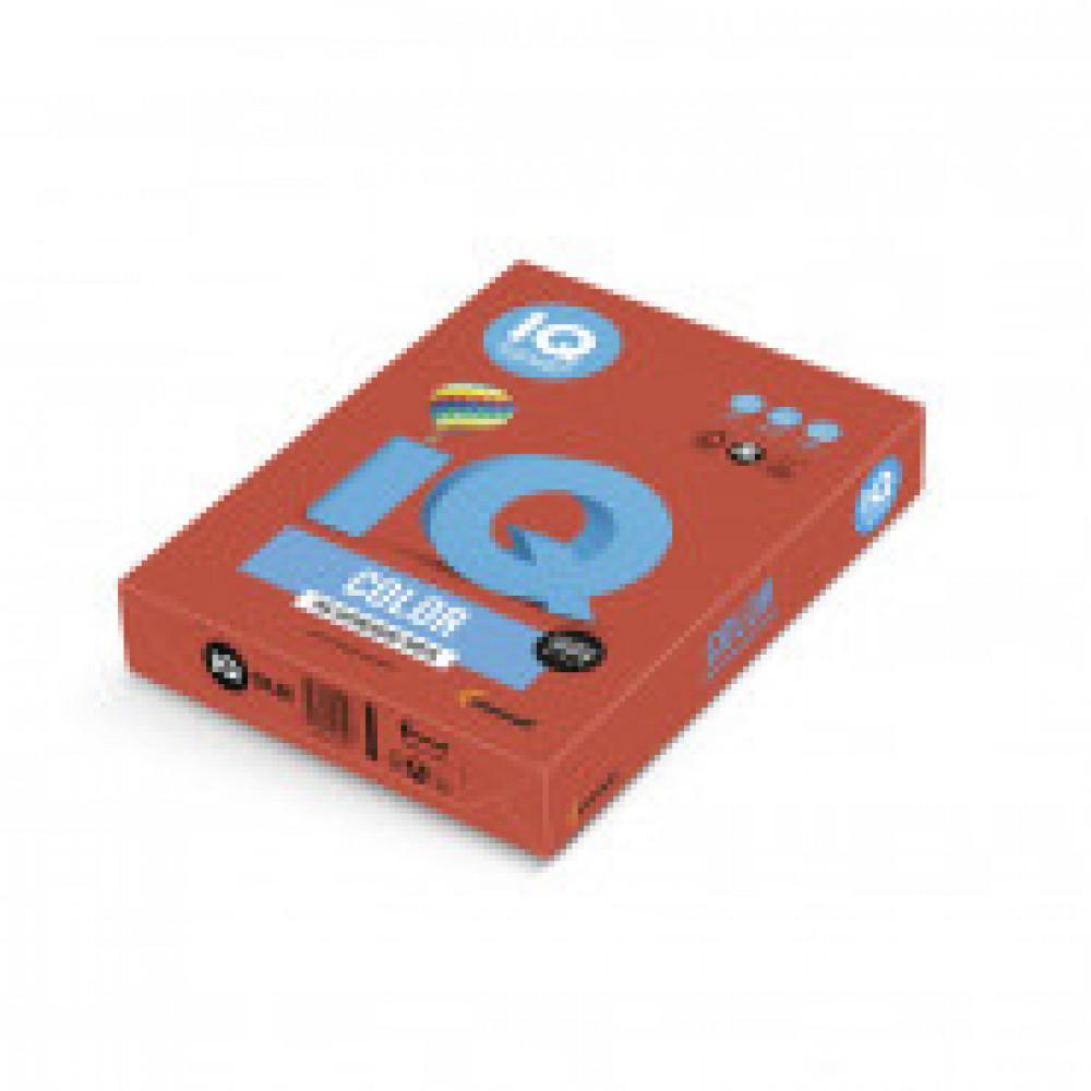 Бумага цветная IQ COLOR (А4,160г,CO44-кораллово-красный) пачка 250л.