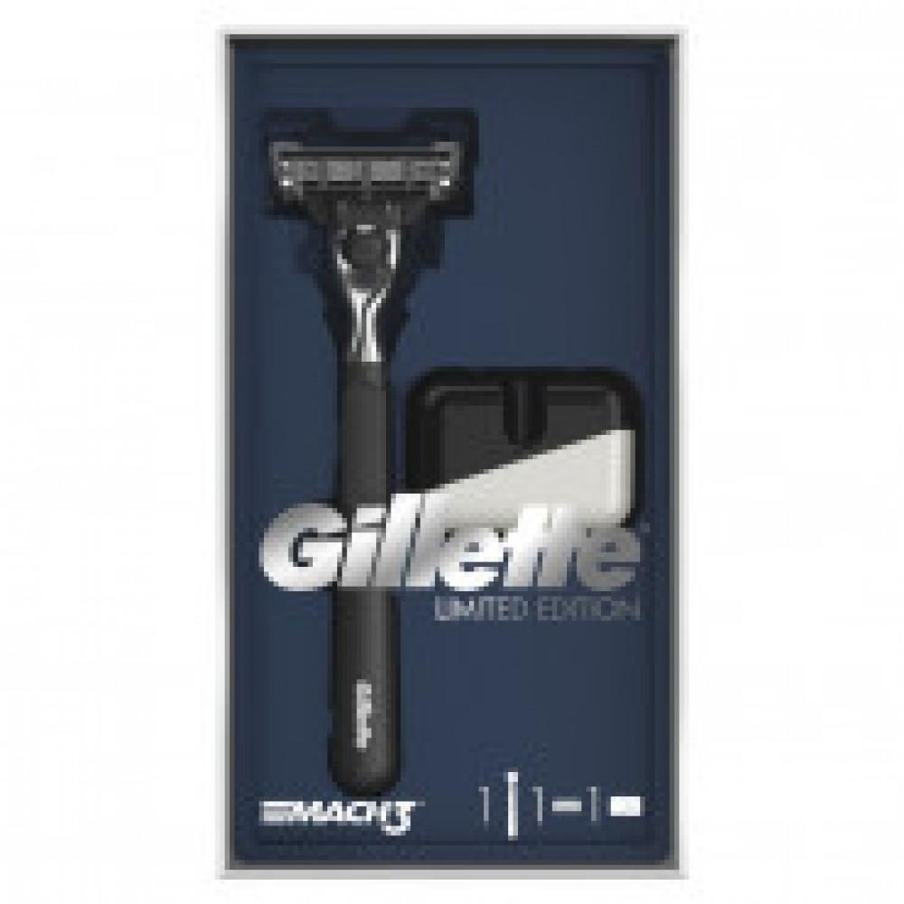 Подарочный набор Gillette Mach3 Бритва с 1 смен касс.,с подставкой д/бритвы