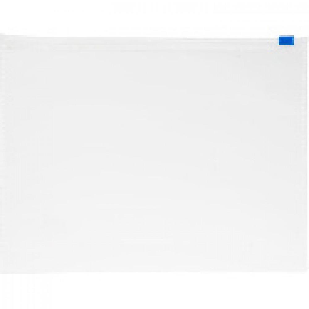 Папка-конверт на zip-молнии Attache Economy А5 прозрачная 110 мкм