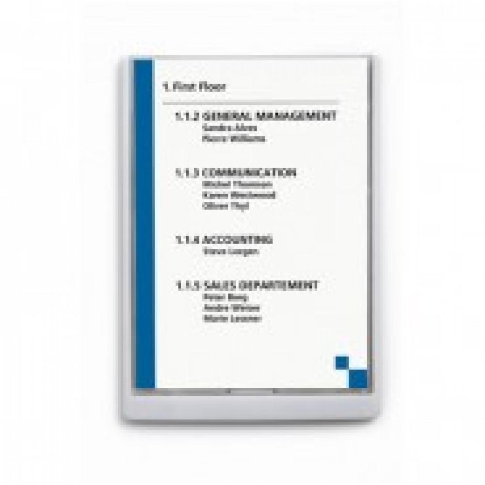 Информационная табличка настенная 21х29,7 белая DURABLE 4867-02 пластик/акр