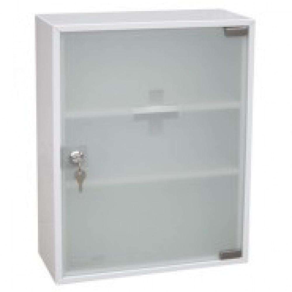 Аптечка металлическая Office-Force со стекл. дверцей, 20097, 360х150х45
