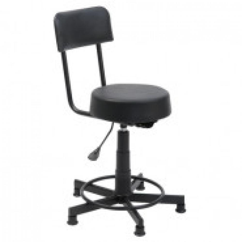 Кресло кассира КС-2 черное (искусственная кожа/металл черный)
