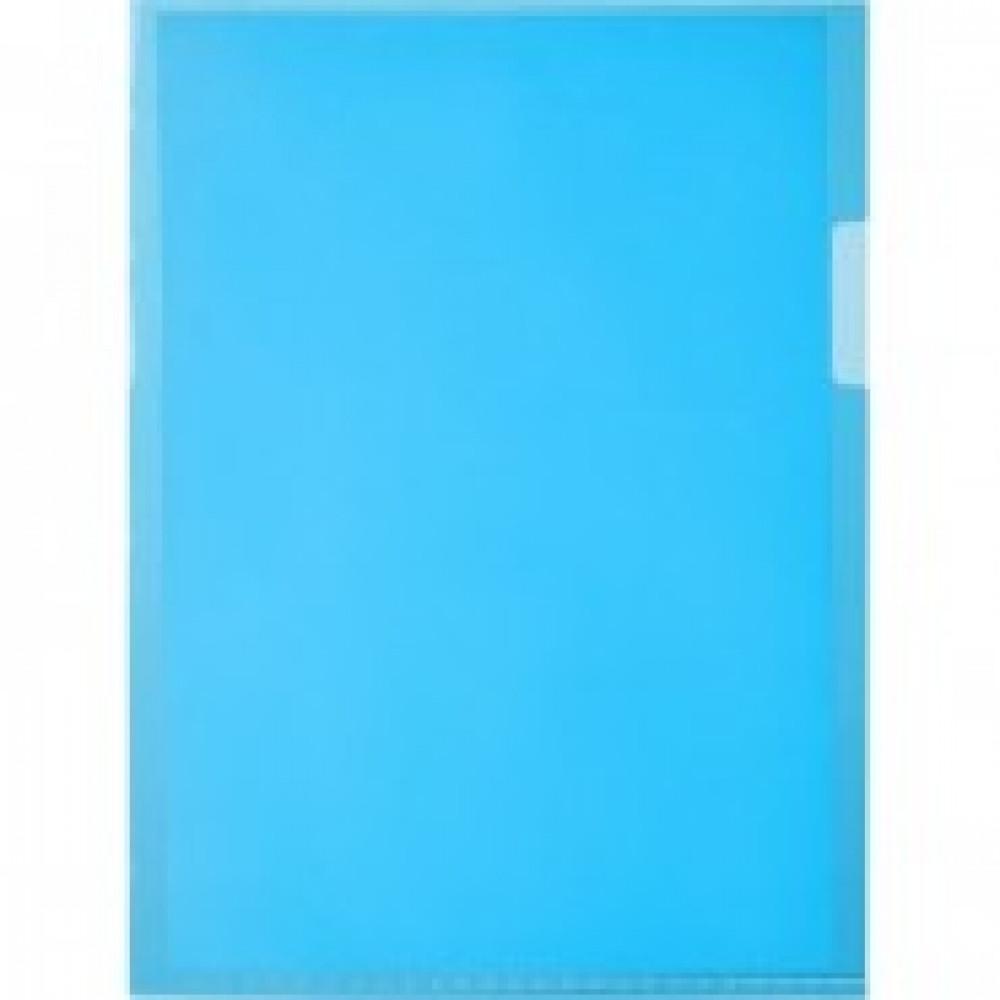 Папка уголок Attache формат А5 синий в уп.20шт