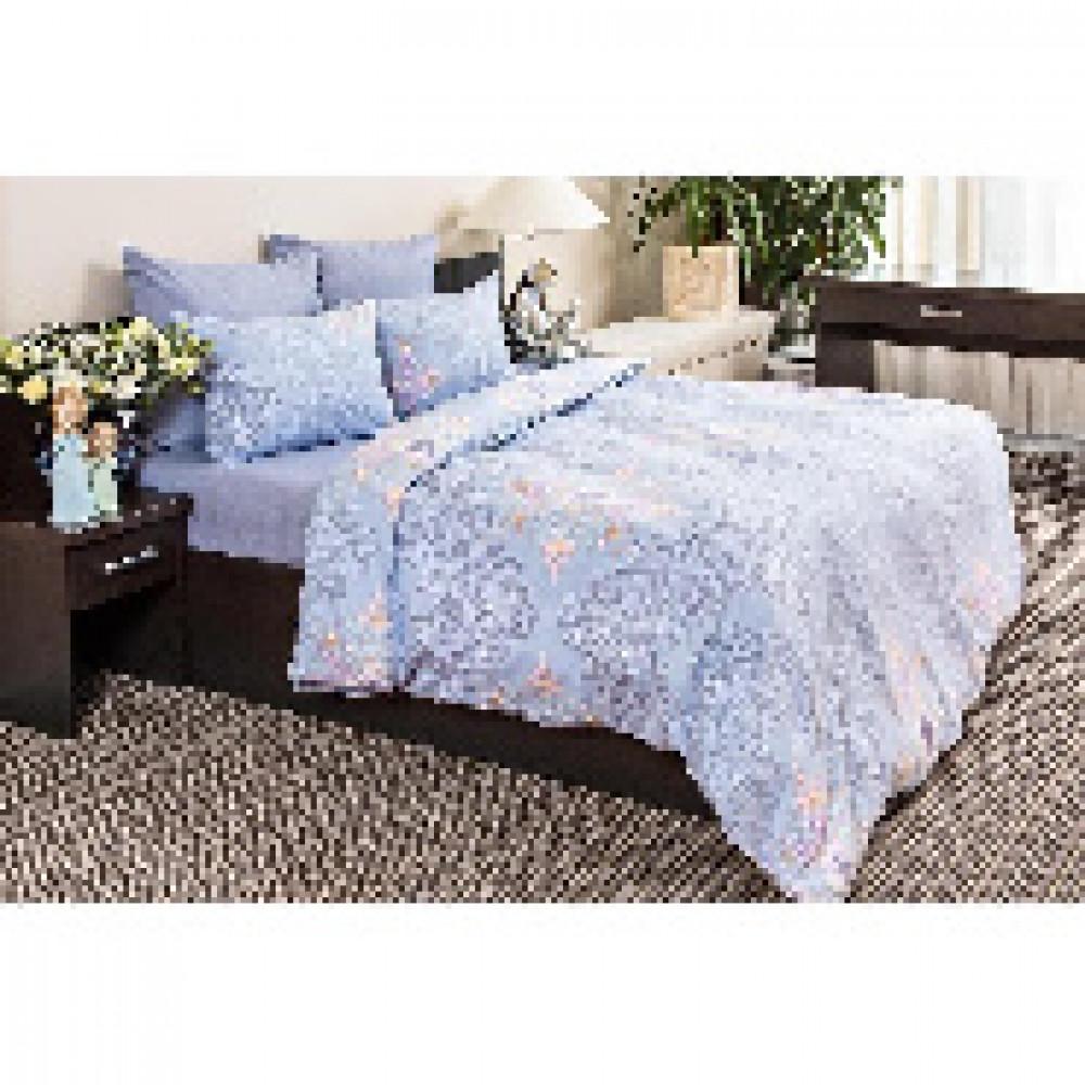 Комплект постельного белья 2 сп бязь 120гр/м2 Витраж голубой