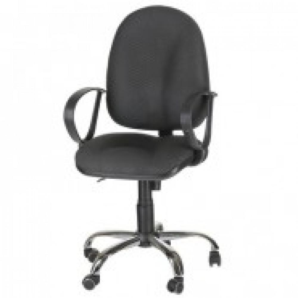 Кресло OL_EChair-201 PJP ткань серая 15/1, хром