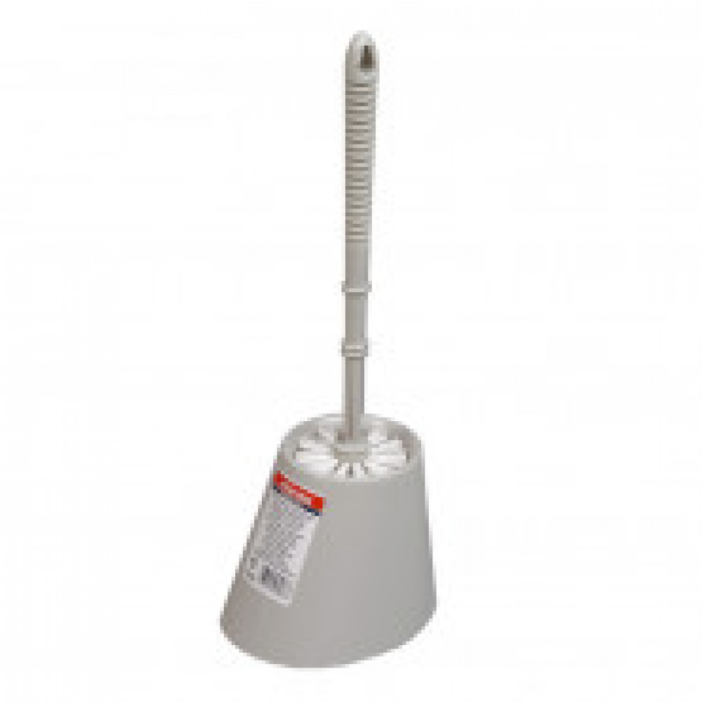 Ершик для туалета с подставкой серый Vileda 100837