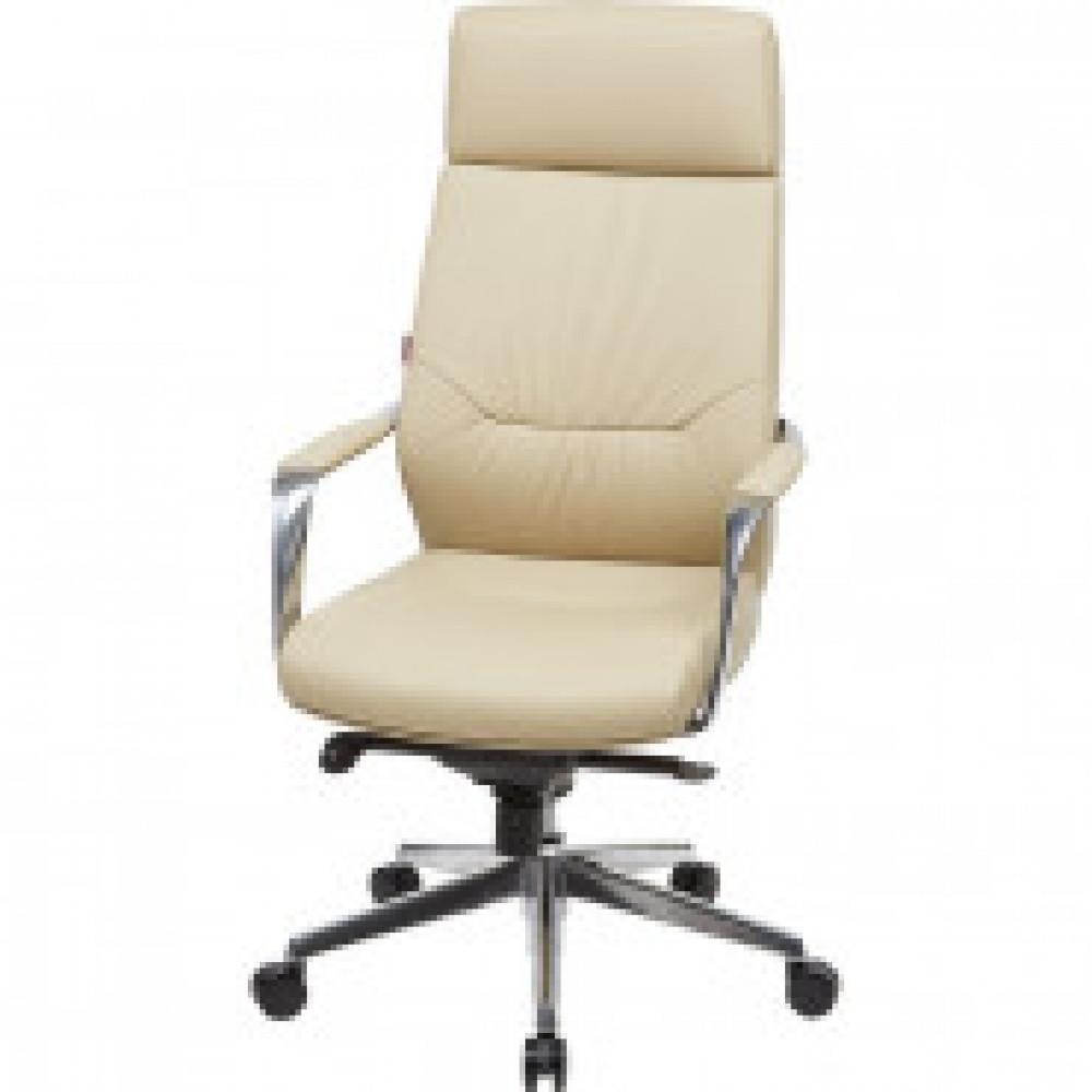 Кресло BN_Fc_EСhair-570 МL кожа бежевая, хром