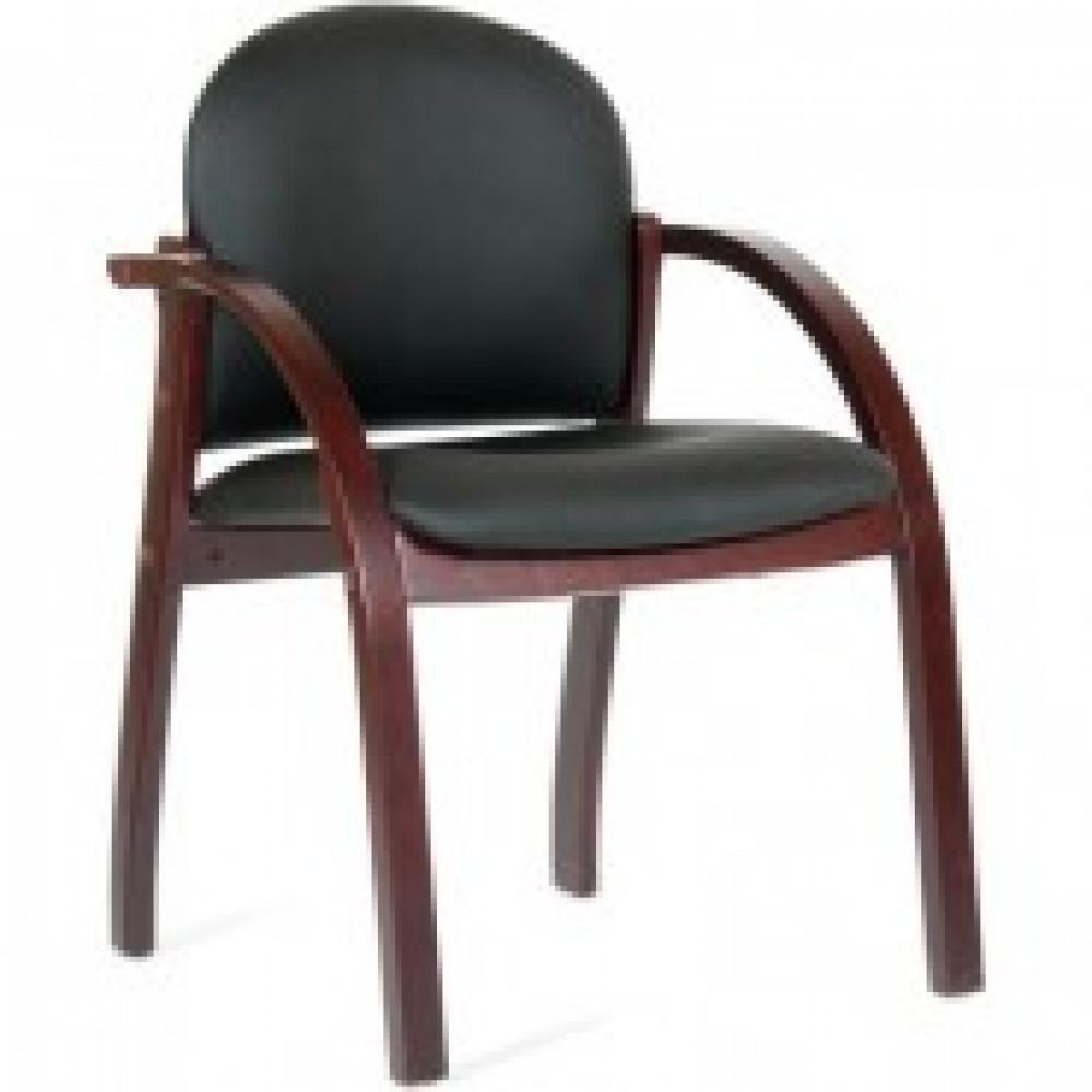 Кресло VT_конф-ц CH659 к/з черный матов. Terra темн.орех 6066646
