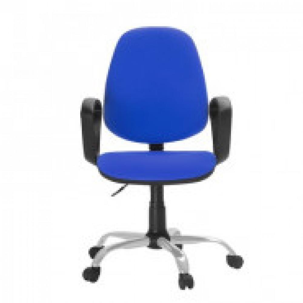 Кресло FA_EChair-222 PC ткань синяя ТК9, Silver