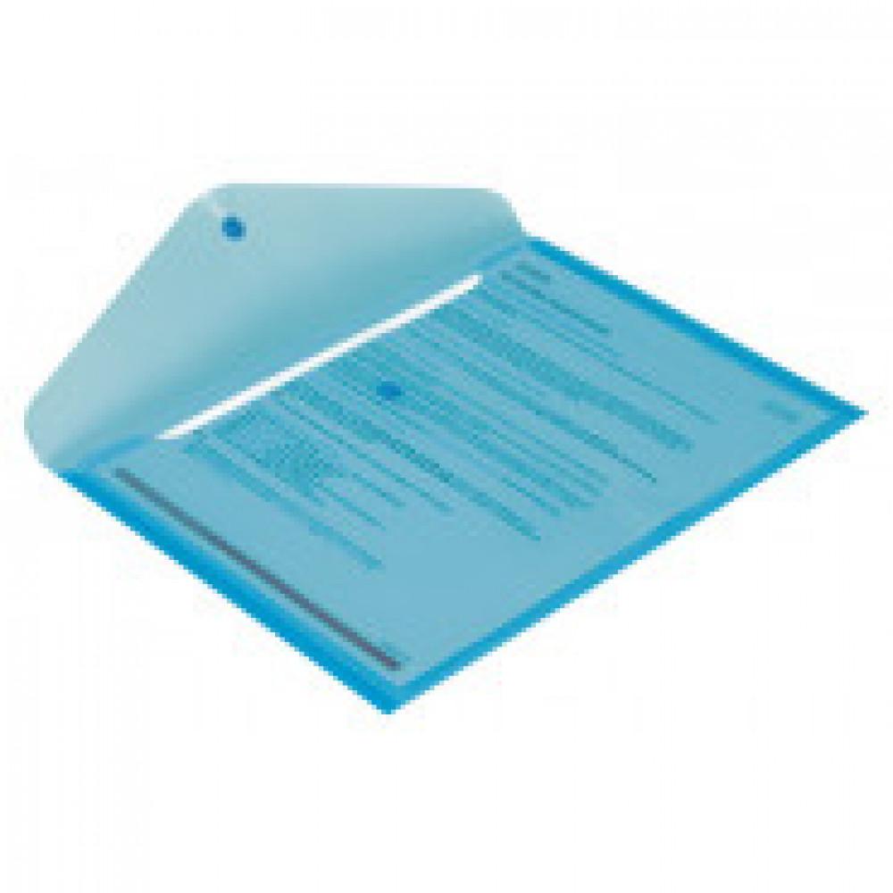 Папка-конверт на кнопке Attache 330x240 мм синяя 180 мкм