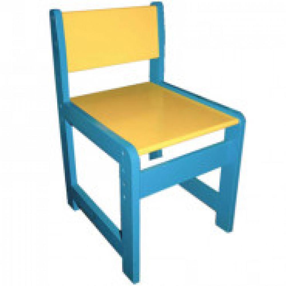 Детская мебель Д_Стул детский 998.001 регулируемый 0-1 голубой/желтый
