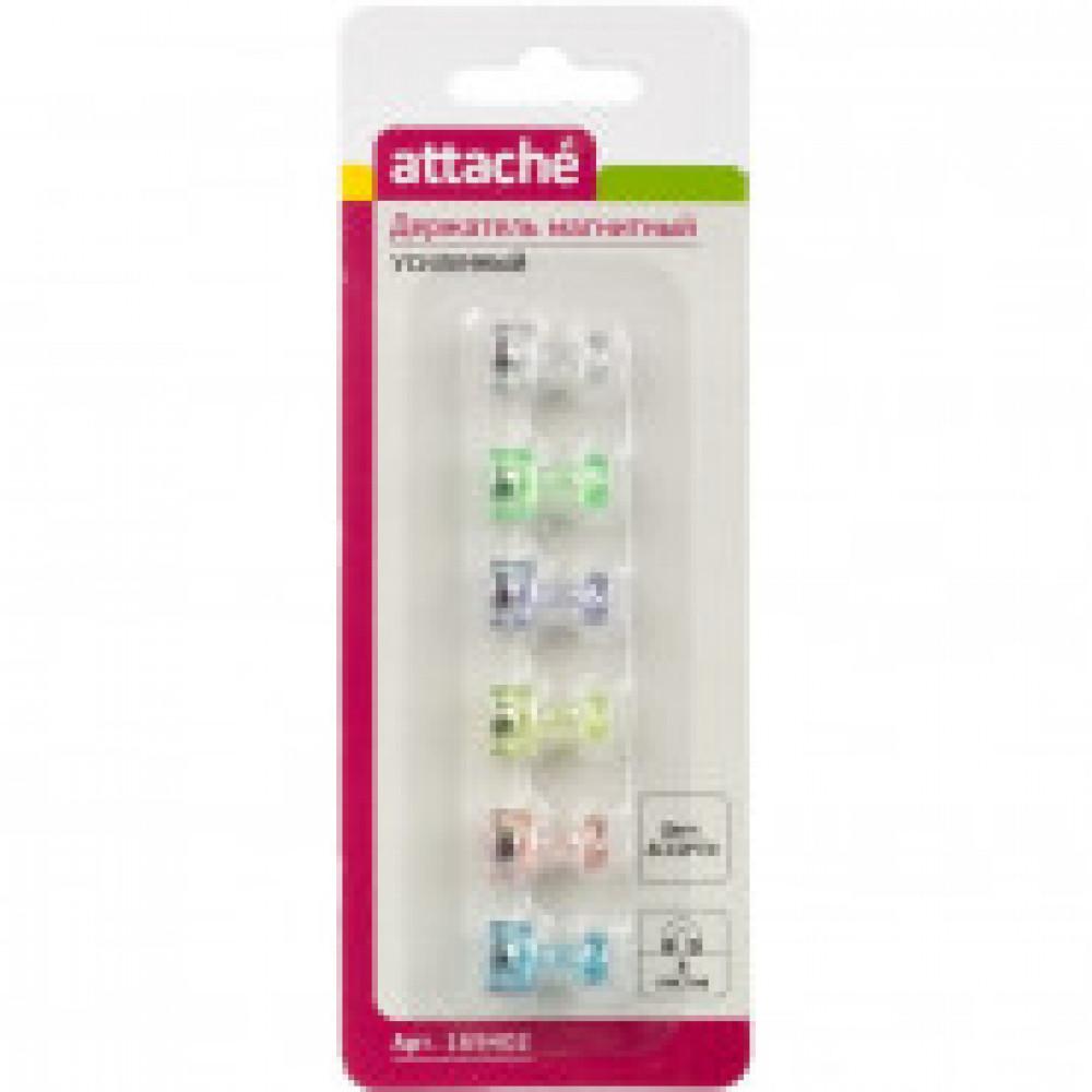 Магнитный держатель для досок Attache усиленный (размер 11 мм, 6 штук в упаковке)