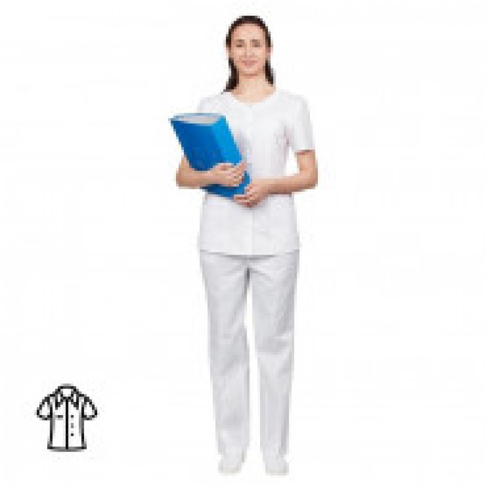 Блуза женская белая м16-БЛ (р.52-54) р.170-176