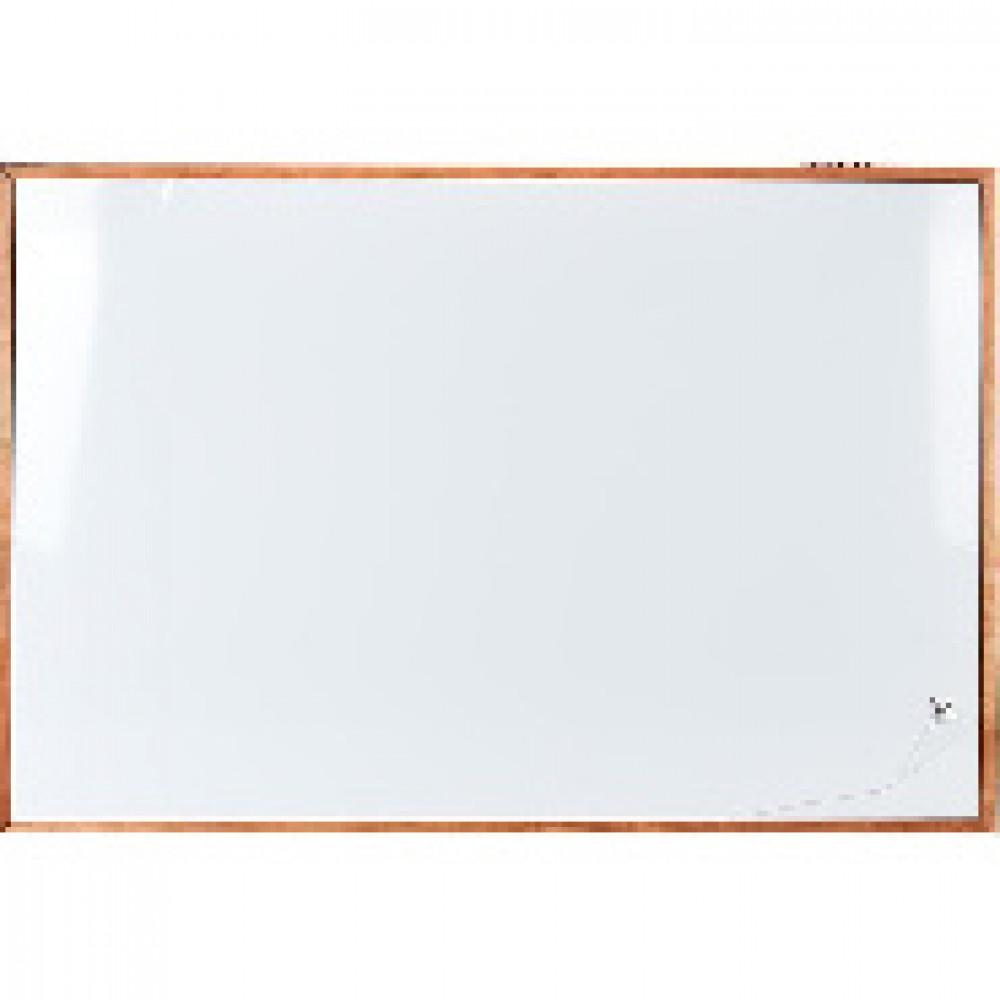 Доска магнитно-маркерная 100x150 см односекционная деревянная рама Attache