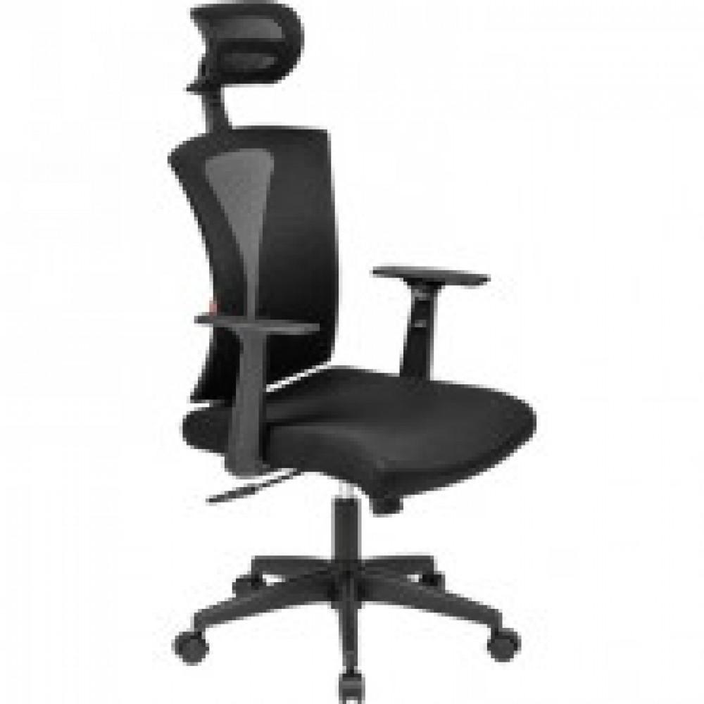 Кресло BN_Cm_EChair-649 TTW сетка, ткань TW черный, пластик черный