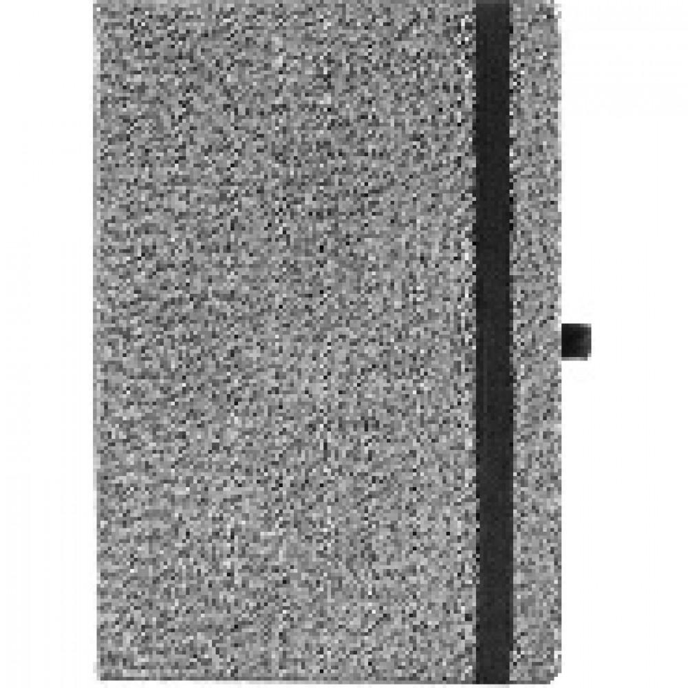 Ежедневник датир. Attache 2020,серебро,резин/срез,А5,176л, Силуэт Ламе
