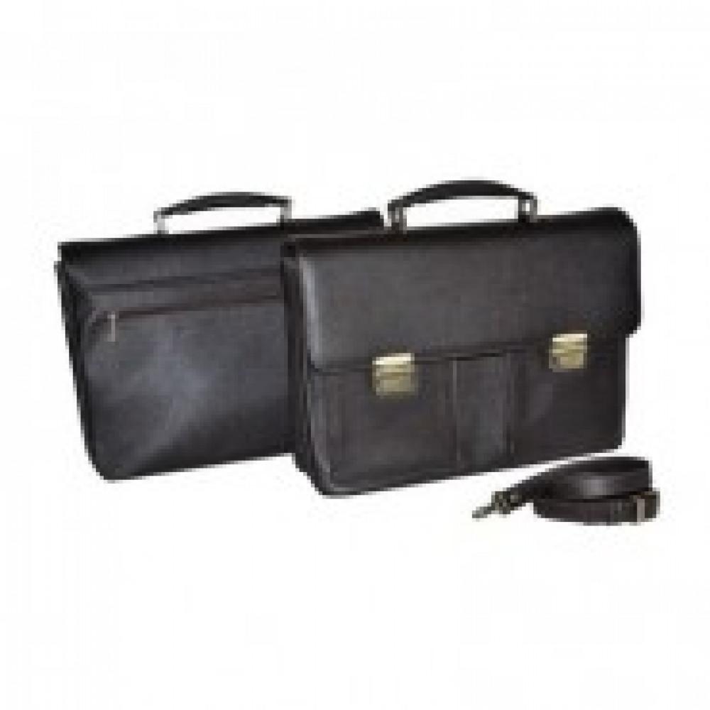 Портфель кожаный коричневый,01-016-0723