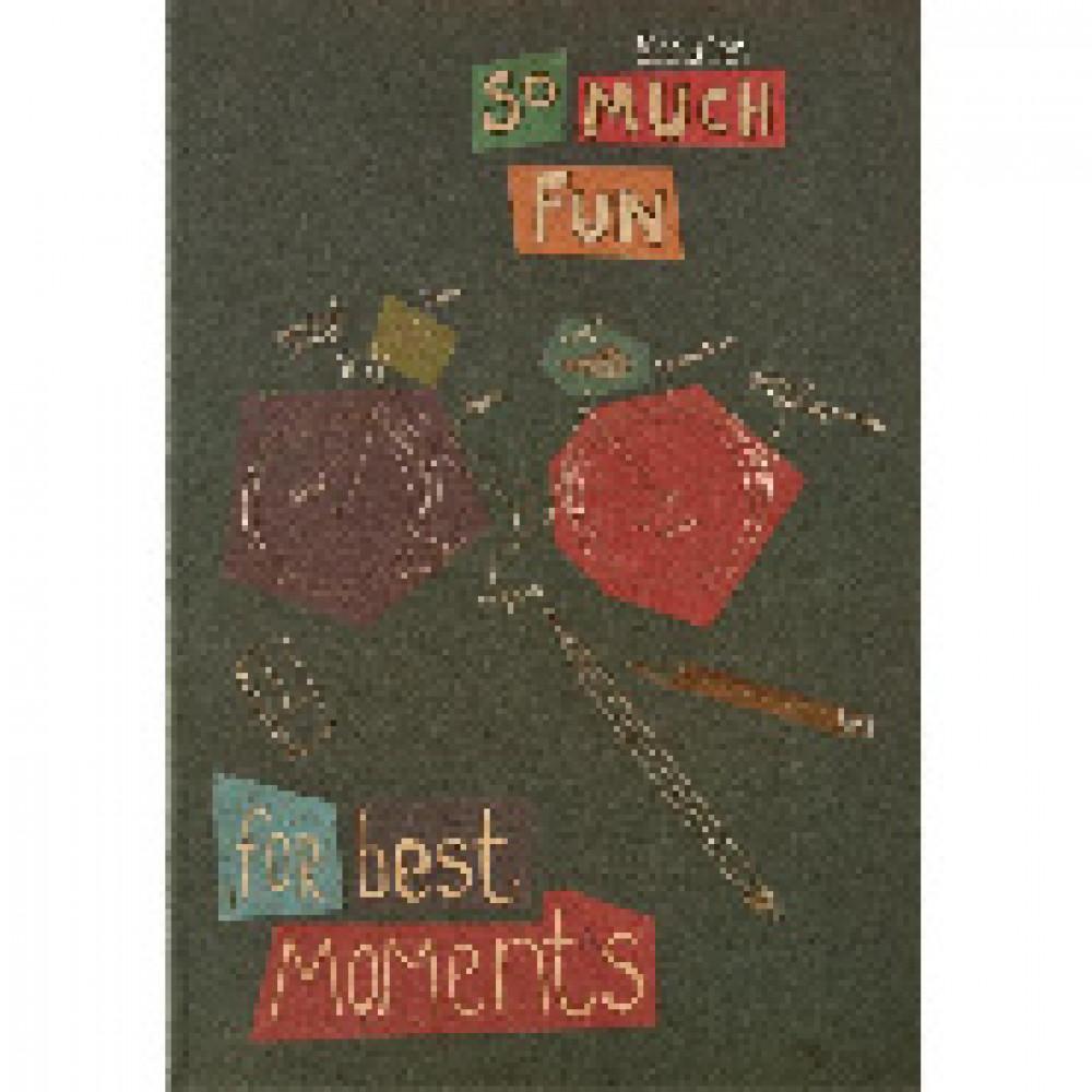 Тетрадь общая 48л,кл,А4,скреп,For best moments,фольга,арт.06326