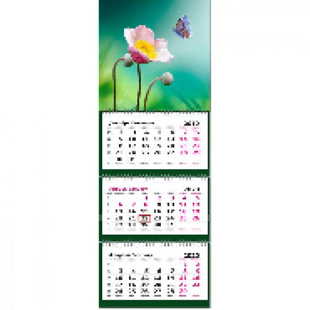Календарь настен,2020,190х550 мини, Природа 3 спир,80г/м2,KB
