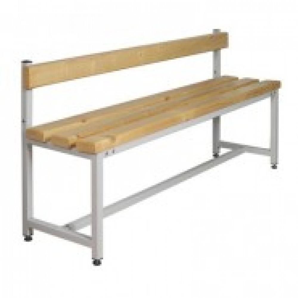 Метал.Мебель К_СК-1С-1500 скамья со спинкой, сосна, 1500х390х740
