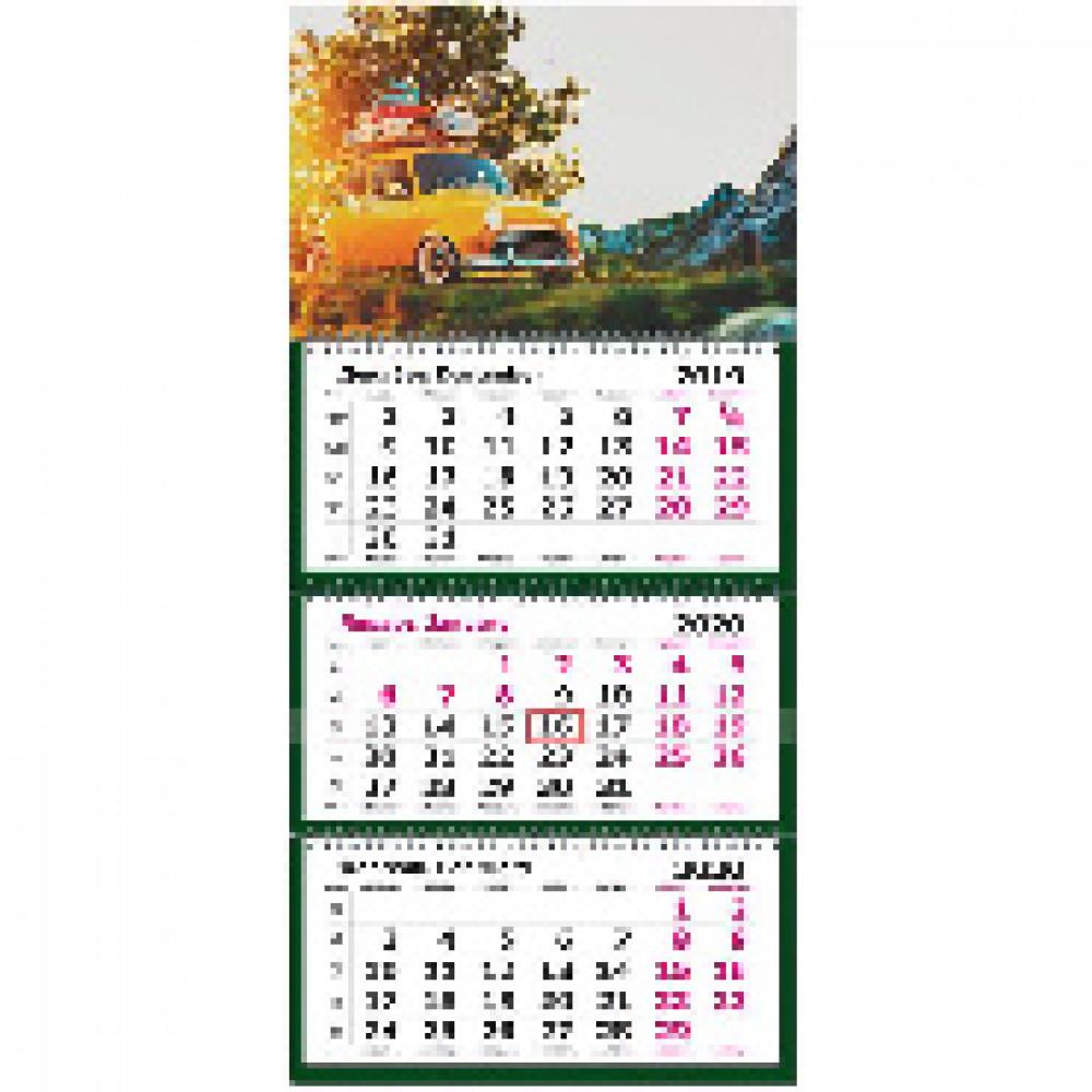 Календарь настен ПРЕМИУМ,2020,330х730, Ретро. премиум,3спир,80г/м2,KB