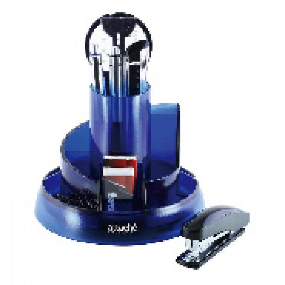 Набор настольный Attache Selection 10 предметов прозрачный синий S-908
