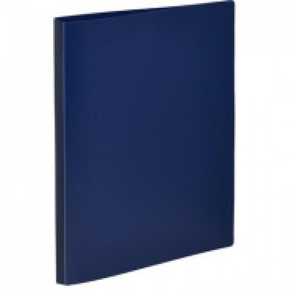 Папка на 2-х кольцах Attache Economy 25 мм синяя до 150 листов (пластик 0.4 мм)