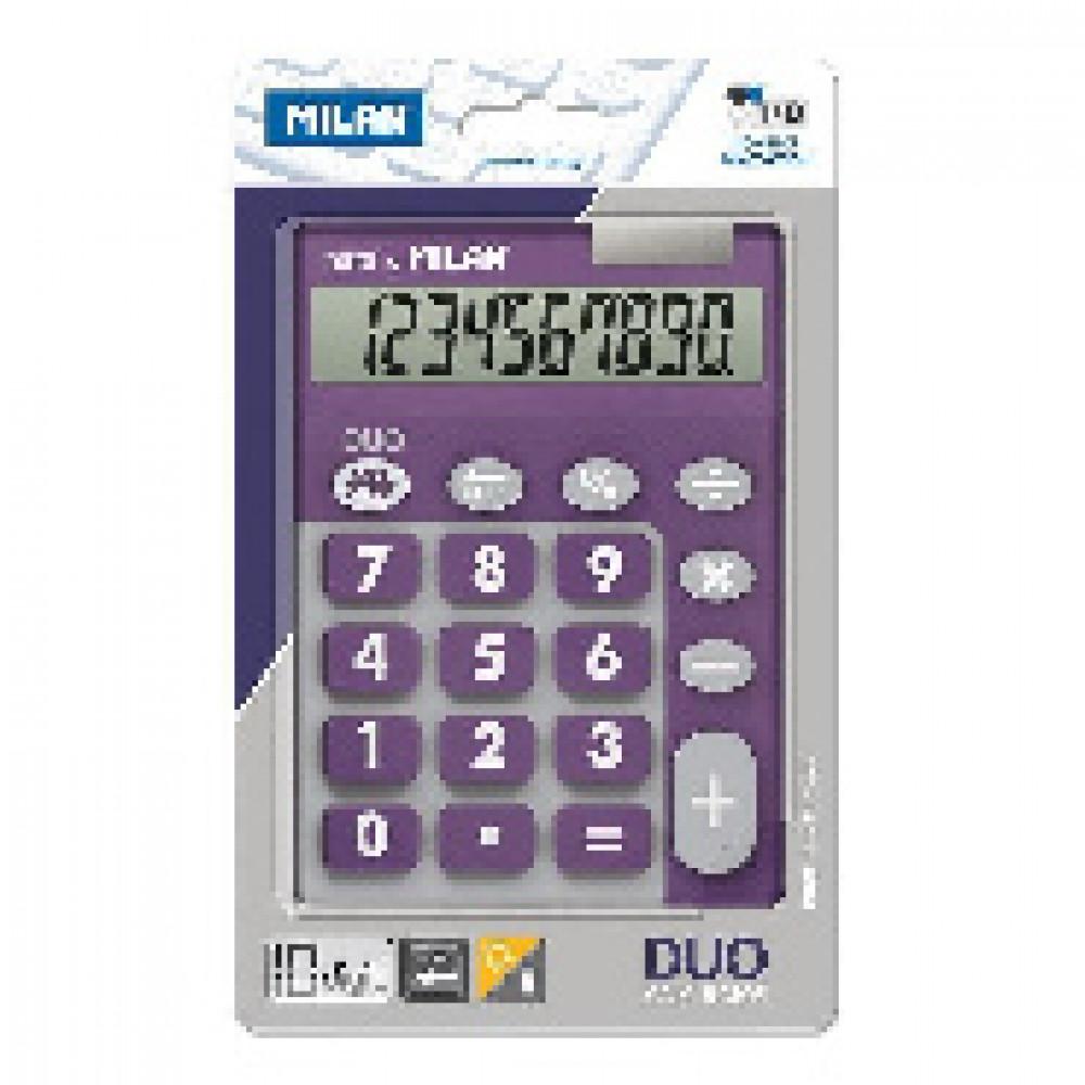 Калькулятор Milan 10-разряд,в чехле, двойное питание, фиолетов 150610TDPRBL