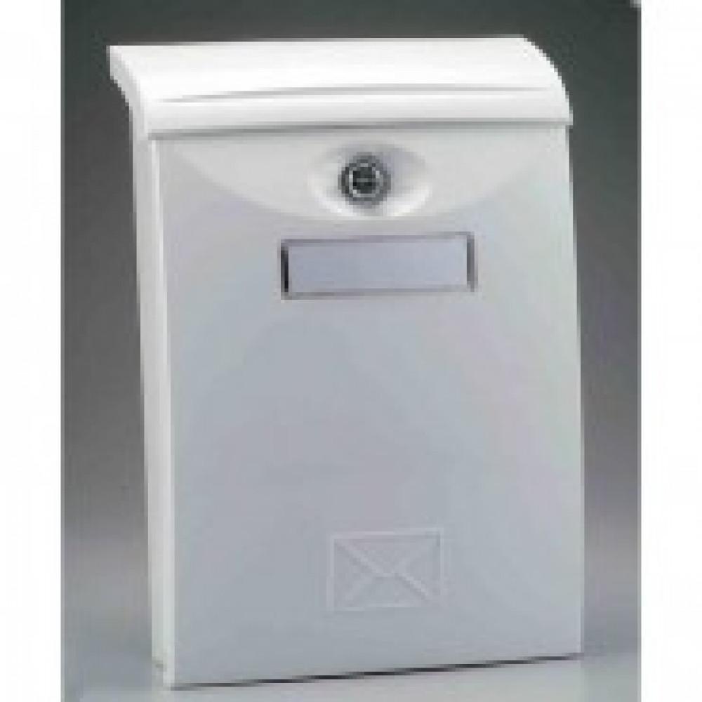 Ящик почтовый SHUH RU LTP-03 (белый) пластик.почтов.ящик,271х105х411