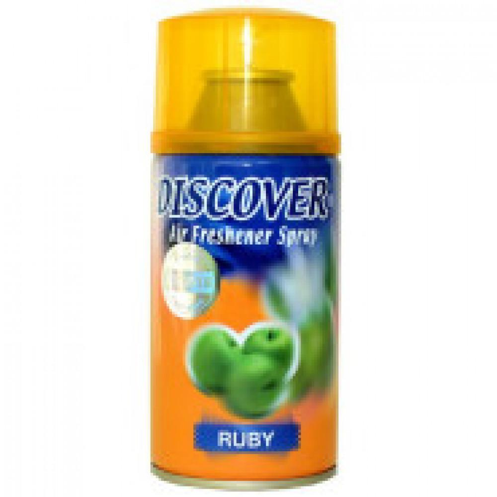 Баллон сменный для автоосвежителя DISCOVER Ruby(Яблоко) 320 мл. спрей