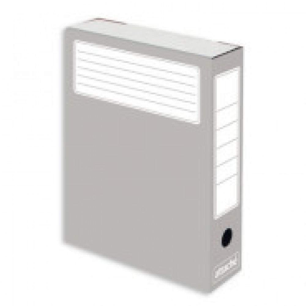Короб архивный Attache микрогофрокартон серый 252x75x322мм (5 штук в упаковке)