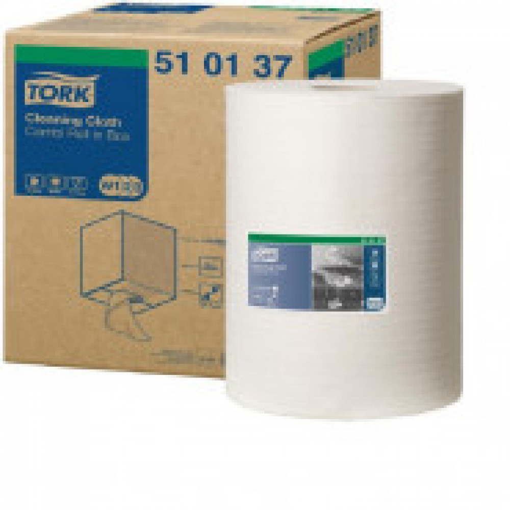 Материал протирочный нетканый Tork W1/W2/W3 400лx1рул/кор, белый 510137