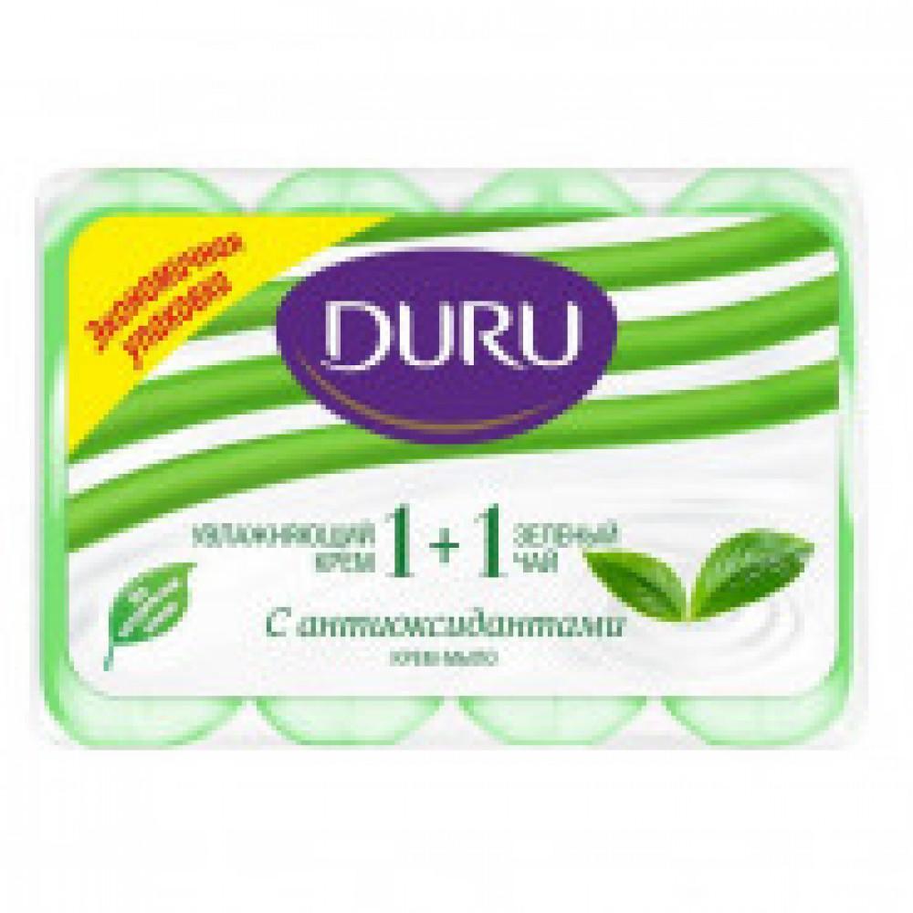 Мыло туалетное DURU Зеленый чай 4шт/90гр мультипак