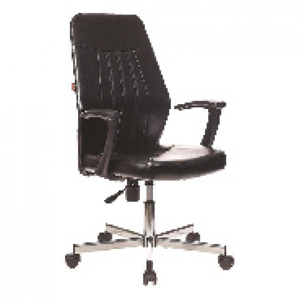 Кресло VB_EChair-224 DSL PPU к/з черный, хром