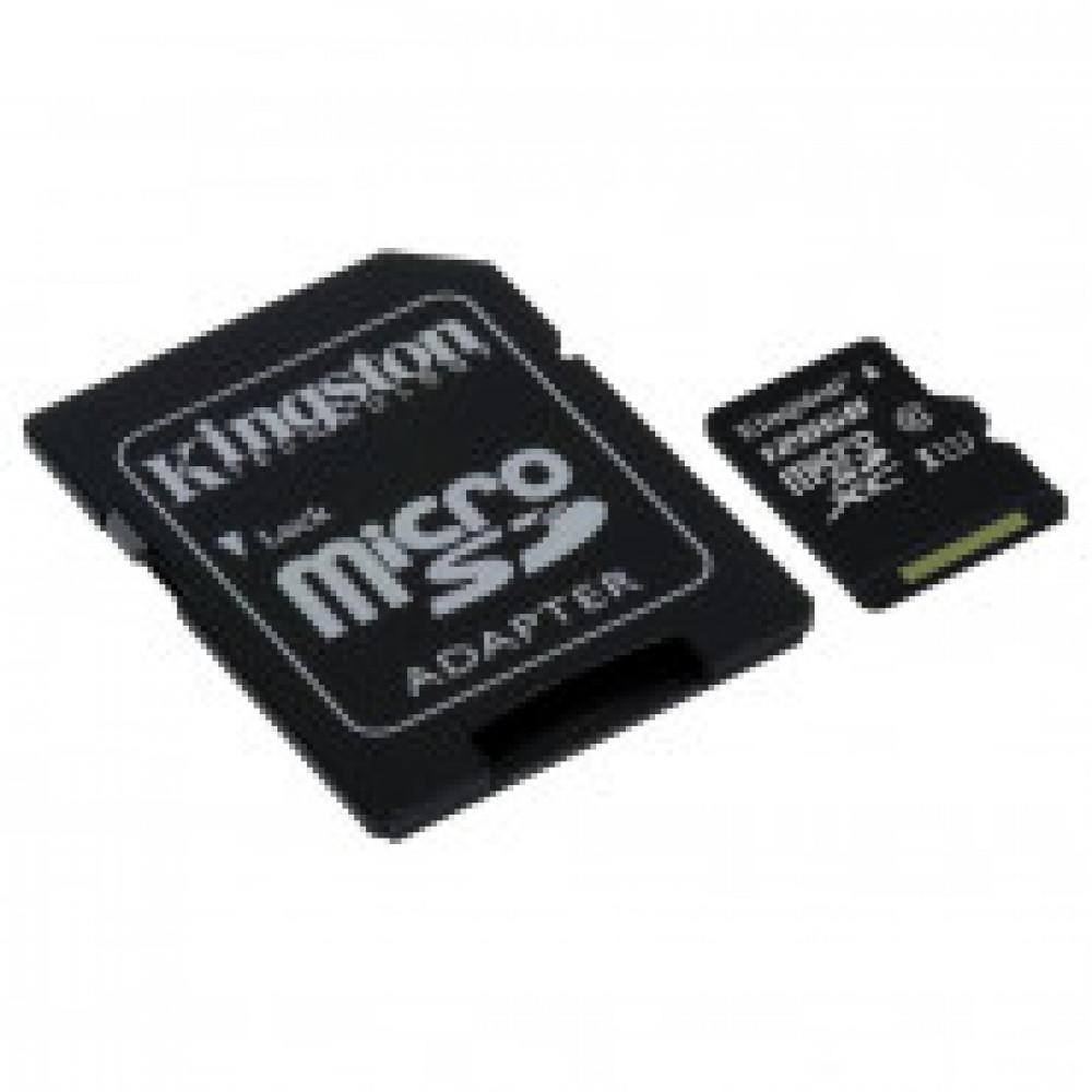 Карта памяти Kingston Canvas Go microSDHC 128Gb, U3 UHS-I+ад,SDCG2/128GB