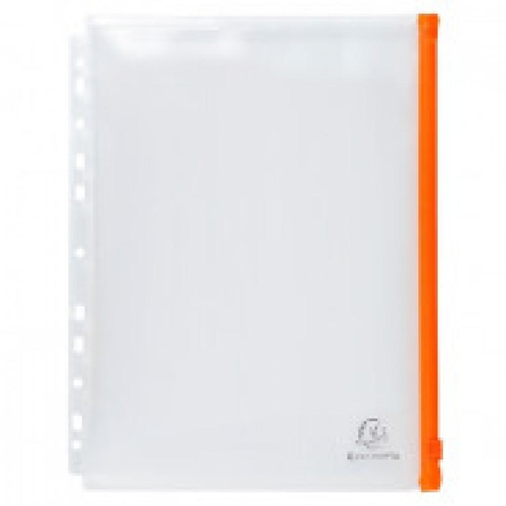 Папка-конверт на zip-молнии Exacompta A4+ прозрачня 150 мкм (5 штук в упаковке)