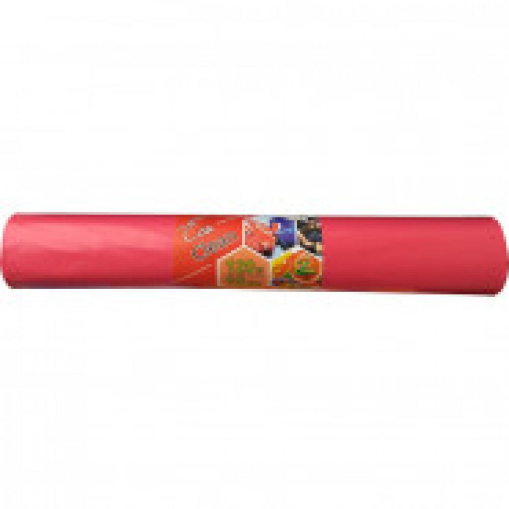 Мешки для мусора ПВД 120л. 70х108см. 40мкм.красный,10шт/рул