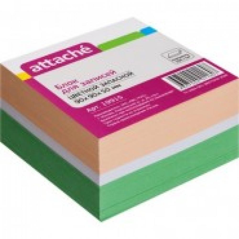 Блок-кубик ATTACHE запасной 9х9х5 цветной блок 80 г