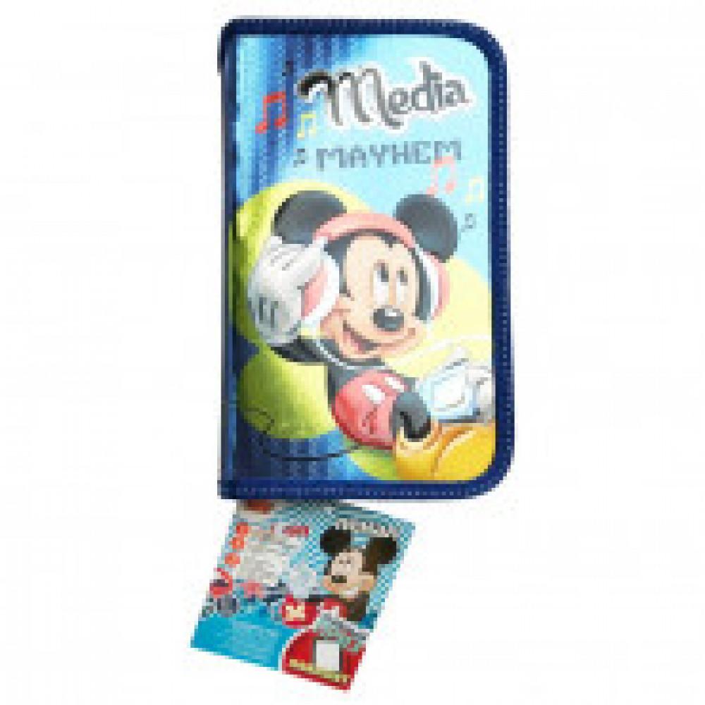 Пенал Disney Микки Маус 1 отд, с наполнением, 42505106