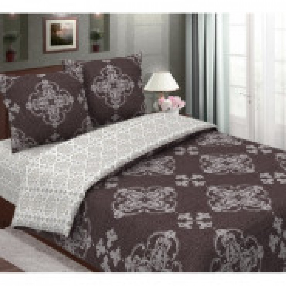 Комплект постельного белья 2 сп  бязь-люкс 125 гр/м2 Брауни