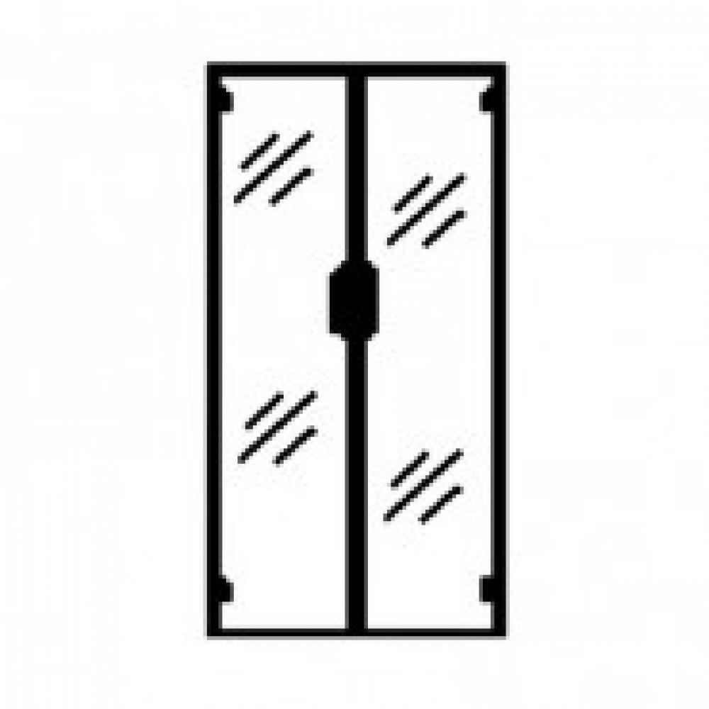Двери комплект Арго (стекло, прозрачные, 710х2х1120 мм)