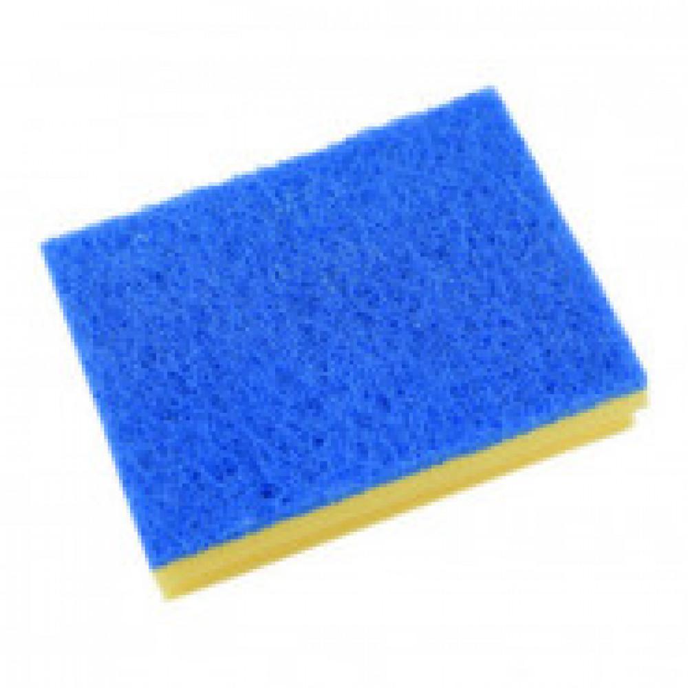 Губка Vileda для ванной (синий абразив)13х16,5 см 535895